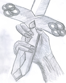 hand-sword pencil sketch